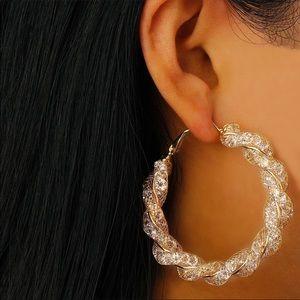 Jewelry - *LAST PAIR* NWT Twisted Hoop Earrings
